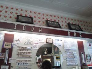 Baker's Pharmacy soda bar