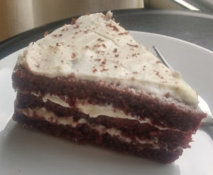 Red velvet beet cake from Iconica